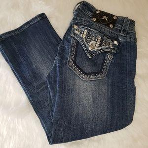MISS ME Signature Cuffed Capri Jeans Denim Size 31